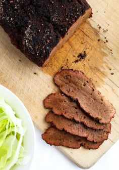 Vegan Corned Beef - a kickass slow-cooker seitan recipe! Vegan Corned Beef that is as meaty and flavorful as any non-vegan version we've ever had but made Vegan Foods, Vegan Dishes, Vegan Vegetarian, Vegetarian Recipes, Vegan Beef, Vegan Raw, Corned Beef Recipes, Meat Recipes, Whole Food Recipes