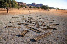 Namibia Sand Art,  Namib Desert Lodge Namib Desert, Sand Art, Stepping Stones, Outdoor Decor, Stair Risers