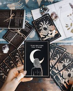 The origins of the Tarot are surrounded with myth and lore. The Tarot has been thought to come from places like India, Egypt, China and Morocco. Others say the Tarot was brought to us fr Affirmation Karten, Affirmation Cards, What Is Affirmation, Stampin Up Karten, Save The Date Karten, Witch Aesthetic, Aesthetic Yellow, Aesthetic Fashion, Aesthetic Art