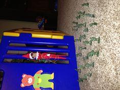 Elf on a Shelf idea!  Under attack!