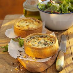 Quiches and salad