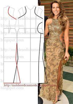 Patterns of elegant dresses. Discussion on LiveInternet - Russian Online Diaries Service Dress Sewing Patterns, Clothing Patterns, Diy Clothing, Sewing Clothes, Fashion Sewing, Diy Fashion, Costura Fashion, Pattern Cutting, Pattern Making