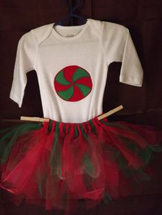 Baby's first Holiday tutu outfit size 36 by AlishaCreativeDesign, $25.00