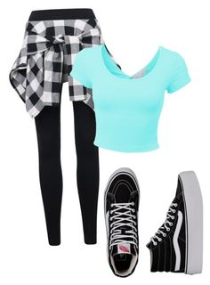 """""""Untitled #354"""" by xxqueenwavyxx ❤ liked on Polyvore featuring LE3NO and Vans"""