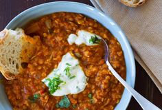 Butternut and Red Lentil Soup with Mint Yoghurt - Nadia Lim