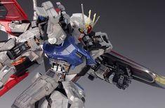 - Painted Build Modeled by RedBrick Strike Gundam, Gundam Model, 30th Anniversary, Spaceship, Badass, Guy, Diorama, Building, Color