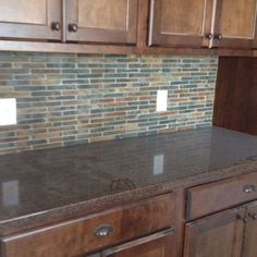 New kitchen cabinets and backsplash