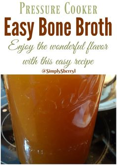 Pressure Cooker Bone Broth should be in your fridge and ready to be used. What an amazing product and so easy to make at home. Making bone broth is easy and so worth the little amount of effort required. You will never use boxed or canned broth again! Power Pressure Cooker, Pressure Cooker Chicken, Instant Pot Pressure Cooker, Pressure Cooker Recipes, Pressure Cooking, Slow Cooker, Pressure Cooker Bone Broth Recipe, Pressure Pot, Chicken Bone Broth Recipe