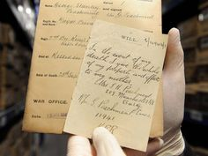 wills and final letters of soldiers killed in WW1 finally shared http://www.independent.co.uk/news/uk/home-news/the-forgotten-letters-of-world-war-one-never-before-seen-love-notes-and-final-wishes-of-thousands-of-soldiers-killed-in-the-trenches-finally-revealed-100-years-after-being-written-8789513.html