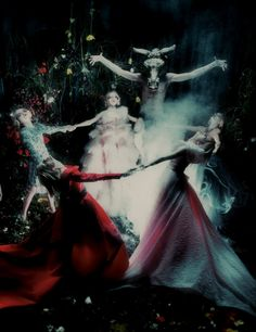 """Spellbound"" by Steven Meisel for W September 2012... want a party like this one!"