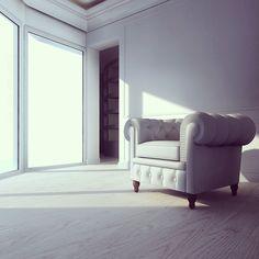 Elegance... #design #interiordesign #chesterfield #baroque #whiteinterior #white