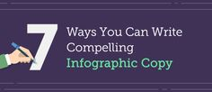 7 Steps To Writing Compelling Copy For Your Infographics – Writers Write Make An Infographic, Infographic Maker, How To Create Infographics, Blog Writing Tips, Good Introduction, Action Words, Writers Write, Business Presentation, Research Paper