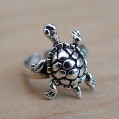 Love Turtles!! TURTLE EAR CUFF  Sterling Silver Cuff Earrings by AgHalo on Etsy, $14.00