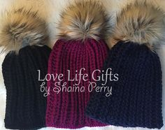 ff75f76ffb4 Love life gifts · fur pom pom slouchy hat - Shaina Perry Hipster Hat