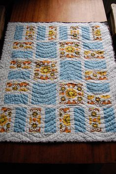 Love the pattern and the quilting stitching.