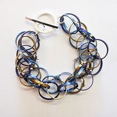 Titanium Messy Bracelet, Cleverly crafted by Melbourne Jeweller Robyn Wilson.