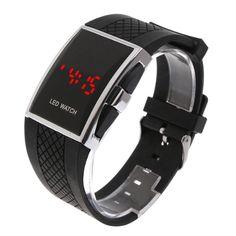 1f45afa304fc8 Fashion Unisex LED Digital Wrist Sports Black Watch Mens Dress Outfits, Men  Dress, Digital