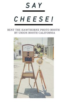 Celeb favorite Hawthorne booth by Union Booth- the open style photo booth with gorgeous backdrop options.  This one prints photos which drop out of the side slot, just like a vintage photo booth!