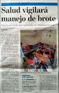[Prensa - ADN Cali]  Personería ha denunciado hacinamiento y brote de enfermedades en Villahermosa [Impreso]