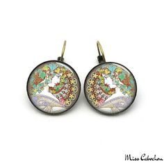 Art deco jewelry earrings - The jewelry of the day by Miss Cabochon (available at http://misscabochon.com)