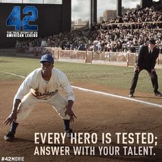 """42 The True Story of an American Legend"" (The Jackie Robinson Story) - Opens in theaters April 12, 2013!"