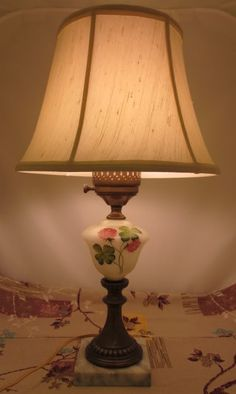 1930's table lamps - shades are too big, but a classic ginger jar ...