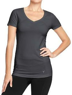 Women's Active by Old Navy Seamless V-Neck Tops | Old Navy