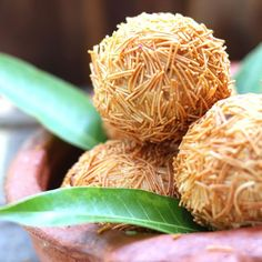 Indian scotch egg: Hard boiled quail egg cased in a mild spicy chicken and potato filling and fried.