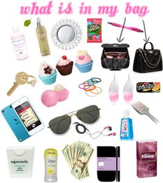 """""""What Is In My Purse"""" by oddkupkake1234 on Polyvore"""