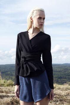 R/H Studio, Finnish design. Ss 15, Wrap Dress, Studio, Jackets, Inspiration, Clothes, Black, Dresses, Design