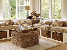 sectional+seating+with+basket+shelves+underneath+and+cool+square+wicker+coffee+table+in+cottage+living+room+plus+cozy+large+rug.jpg (1320×990)