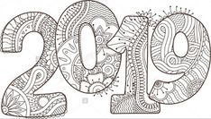 New Year 2019 celebration number vector image on - Happy New Year 2019 celebration number vector image on -Happy New Year 2019 celebration number vector image on - 2 digit addition, no regrouping Its Always Coffee Time Printable Adult Coloring Page from Colouring Sheets For Adults, Colouring Pages, Coloring Books, New Year Pictures, Quotes About New Year, Year Quotes, Printable Adult Coloring Pages, Ecole Art, Dot Art Painting