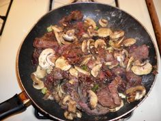 Venison Heart and Liver with Mushrooms Meal