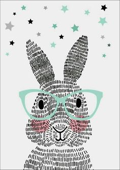 Cute/Sweet Animals Rabbit. [Drawing]