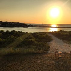Norma Kamali said goodbye to summer with a sunset out East.