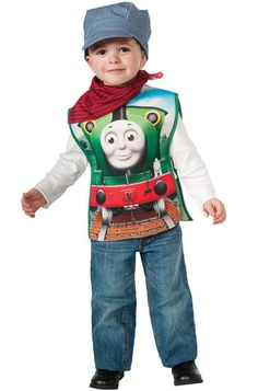Rubies Thomas and Friends: Percy The Small Engine Childs Costume Toddler 2-4 #Rubies #TopsShirts