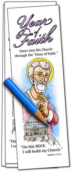 Catholic Bookmarks - Year of Faith from Illuminated Ink