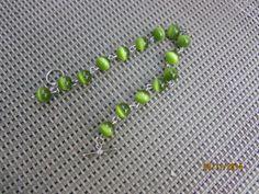 Green Green Beaded Bracelet by BeaderBubbe on Etsy, $8.00