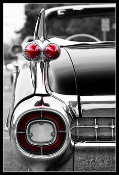1959 Caddy Convertible with classic bullet tail lights