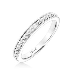 Princess shaped diamond accented wedding band available in 18kt gold or platinum.