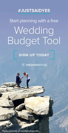 Planning a wedding? Sign up for our free budgeting tool to keep payments on track!