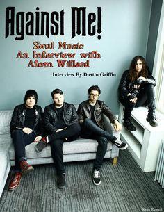 August 2015 Vandala Magazine - Interview Atom Willard of Against Me