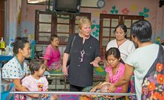 March 2014 Gro Harlem Brundtland and Martti Ahtisaari returned to Myanmar for the Elders' second visit to the country. They also travelled to the Thailand-Myanmar border to meet communities exiled by more than 60 years of civil war. Photos: Kaung Htet / The Elders