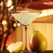 Pear-A-Sol  Signature drink at Parasol Up/Parasol Down in the Wynn LV  1  1/2 oz Absolut Pear Vodka 1/2 oz Belle Paire Pear Liqueur 1/4 oz Pear Purée 1  1/4 oz Fresh Sweet n Sour 1/4 oz Simple Syrup  Combine all ingredients in a bar mixing glass. Add ice and shake well. Strain into a chilled martini/cocktail glass. Garnish. Serve. Parasol adds two cherries as garnish.   Note: you can find recipes for pear purée, fresh sweet n sour, and simple syrup online.