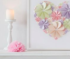 Modern 3D Hearts Guest Book - Spring Inspiration Colours-BIG - 2014  $190 How beautiful, I love their art work, but I wouldn't spend that when I know I could do it myself.