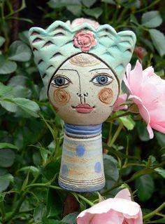 Gartenfiguren - »Pamina« Miniatur 2 - ein Designerstück von Brigitte_Peglow bei DaWanda