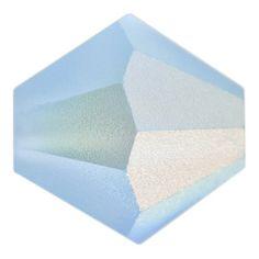 3mm Matte Aquamarine AB Preciosa Czech Crystal Bicone Bead   Fusion Beads