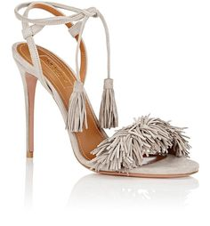 Aquazzura Wild Thing Open Toe Fringe Pumps 36.5 Gray Sandals. Get the must-have sandals of this season! These Aquazzura Wild Thing Open Toe Fringe Pumps 36.5 Gray Sandals are a top 10 member favorite on Tradesy. Save on yours before they're sold out!
