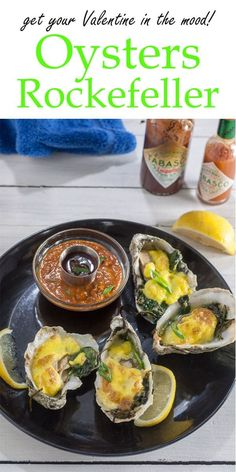 Get your Valentine in the mood with this Oysters Rockefeller recipe from Binky's Culinary Carnival! It's a delicious and gourmet way to prepare oysters and is sure to please your seafood lover. Enjoy this meal with someone special. #oysters #Rockefeller #recipe #seafood #datenightdinner #valentinesdinner #valentines #valentinesday #recipes #dinnerrecipes #dinner #dinnerideas #binkysculinarycarnival via @binkysculinarycarnival Make Ahead Appetizers, Finger Food Appetizers, Easy Appetizer Recipes, Fish Recipes, Seafood Recipes, Dinner Recipes, Healthy Recipes, Seafood Mac And Cheese, Seafood Dishes