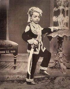 Three+Unindentified+Young+Princes+of+India+-+circa+1890+c